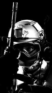 军人 装备 黑白 战士 武器