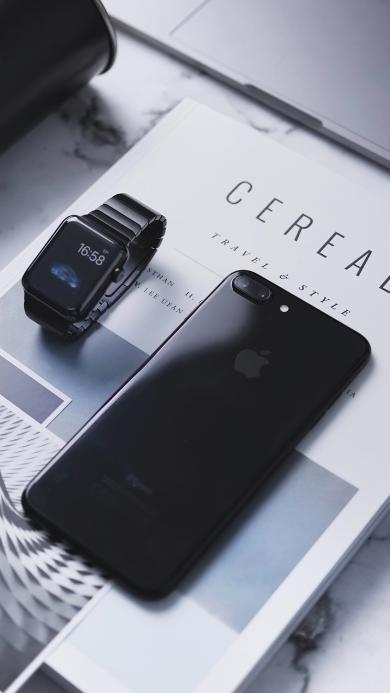 桌面 摆拍 苹果手机 黑白 技术 IT 书本