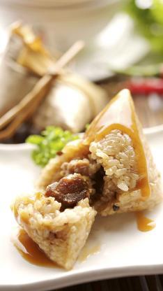 端午节 粽子 肉馅 美食