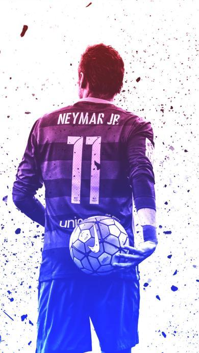 内马尔 背影 巴西 运动员 足球