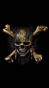 加勒比海盗5 死无对证 骷髅头 海报