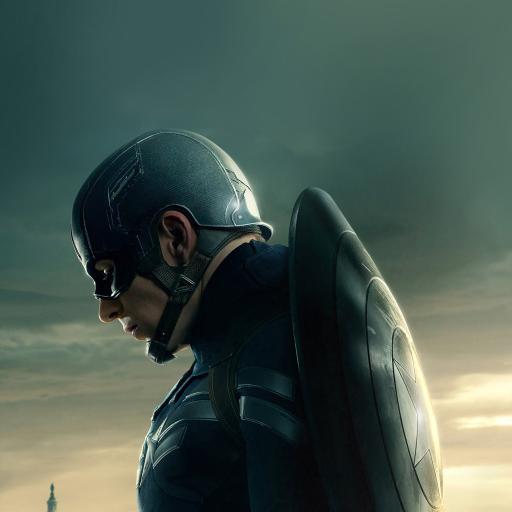 美国队长 侧脸 盾牌 电影 英雄人物