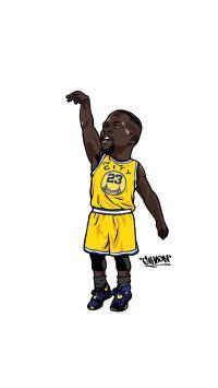 詹姆斯 篮球 运动员 NBA 投篮 卡通