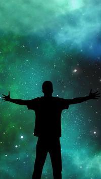 星空下的背影 创意
