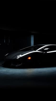 兰博基尼 黑色 超级跑车 速度 炫酷