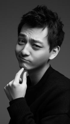 张晓谦 演员 艺人 明星 黑白 写真