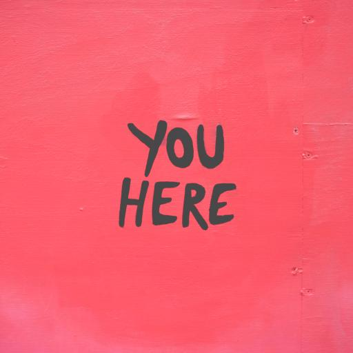 you here 你在这 英文 粉色