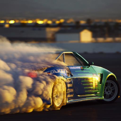 赛车 名车 跑车 烟雾