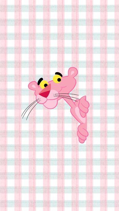 粉红豹 粉色 动画 格子