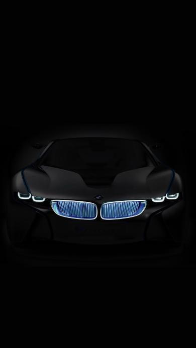宝马 BMW 黑色 汽车 车头