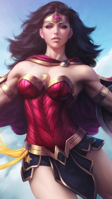 神奇女侠 盖尔加朵 戴安娜·普林斯 女神 手绘