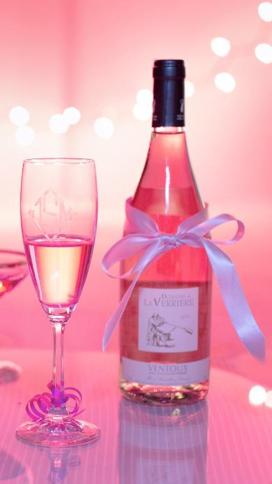 香槟 酒精饮品 粉色主题 浪漫