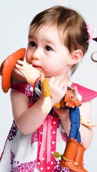 小女孩 可爱 欧美 玩具 萌 宝宝