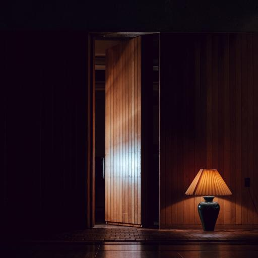 建筑 台灯 光亮 黑暗 夜晚