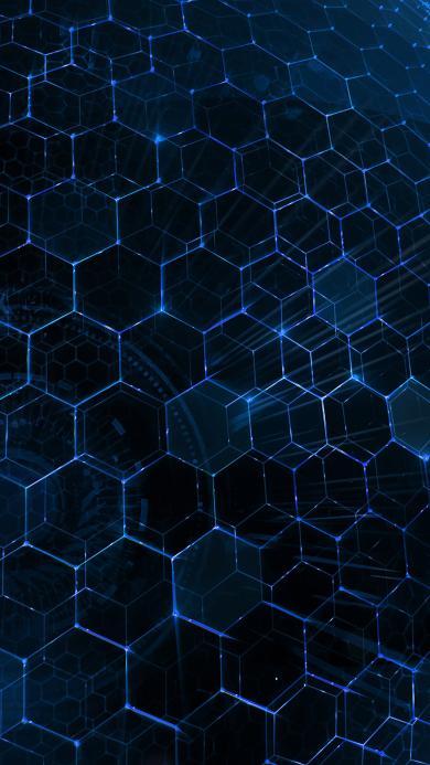 蜂巢 纹理 科技 蓝色 技术 现代