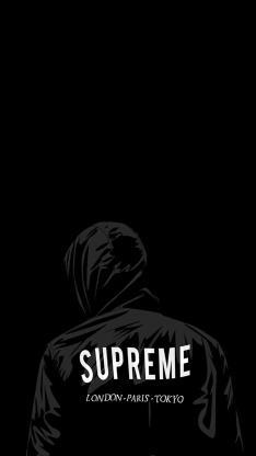 SUPREME 品牌 黑色 背影