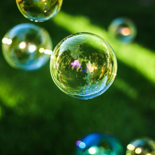 彩色气泡 飘散 梦幻