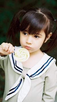 小女孩 可爱 萝莉 儿童 波板糖