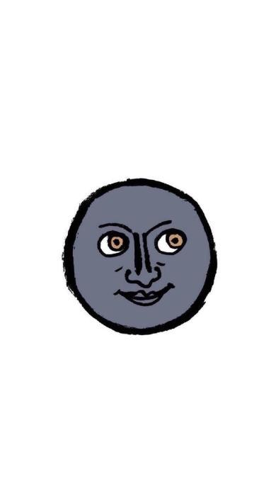 卡通 创意 emoji 黑脸