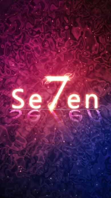 数字 7 seven 艺术字