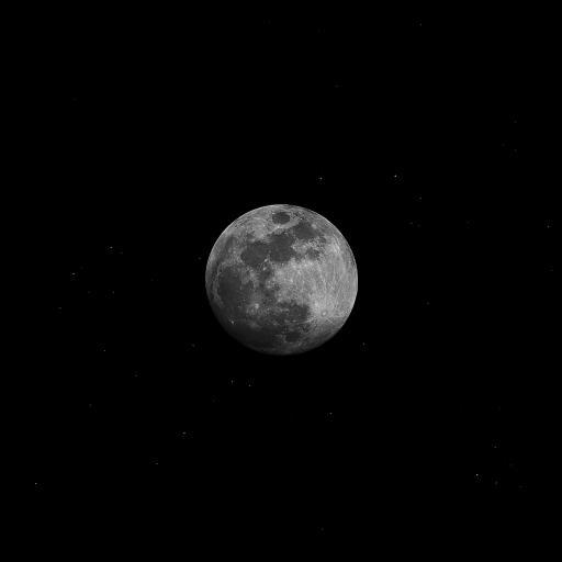 月球 星球 天空 黑夜