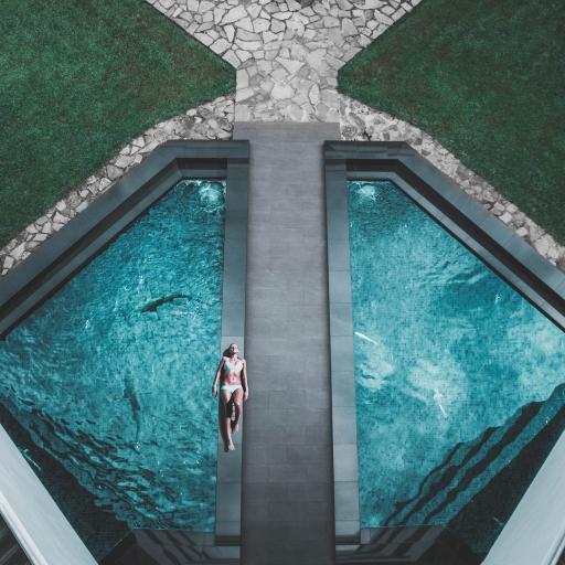 游泳池 体育运动 休闲 美女