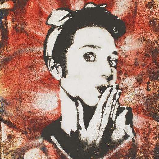 墙体涂鸦 喷绘 欧美女孩