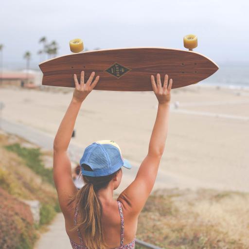 滑板 女孩 运动 背影 欧美