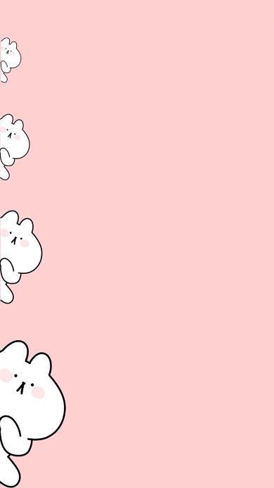 兔子 萌 可爱 卡通 粉色 暗中观察