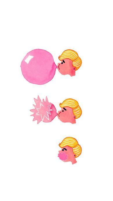 泡泡糖 创意 插画 爆炸