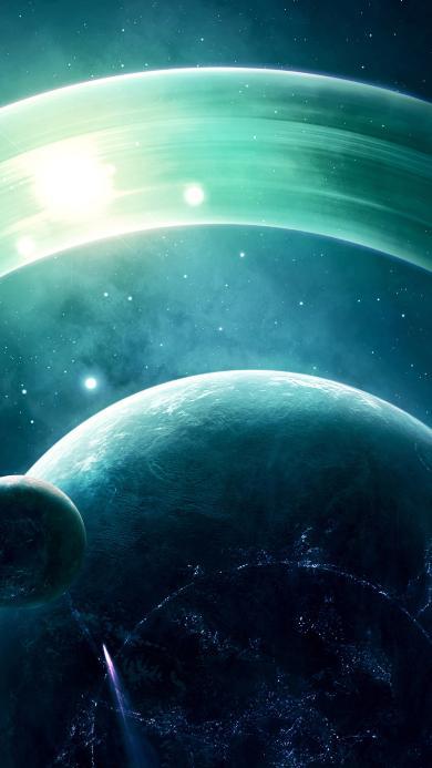 宇宙 太空 梦幻 光 神秘