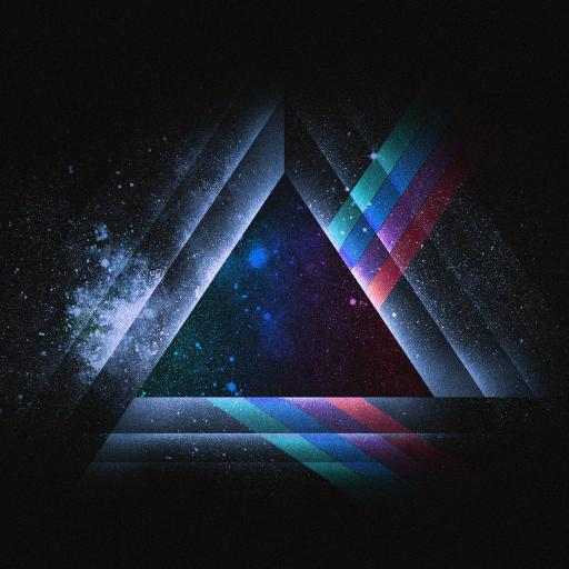 三角 科幻 三维 创意 色彩