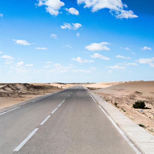 公路 荒漠 天空 一望无际