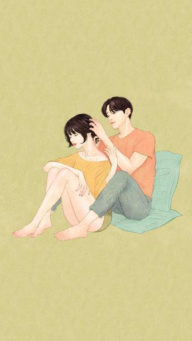 情侣 男女 插画 爱情