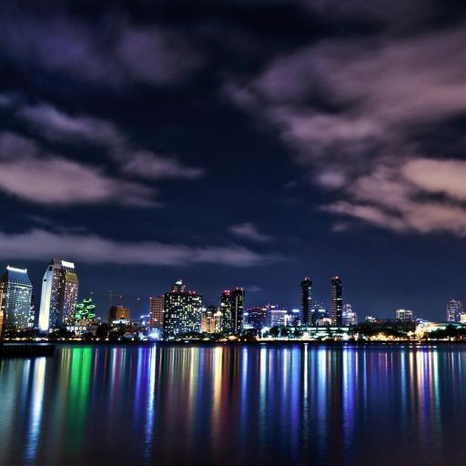 城市 风景 夜色 天空
