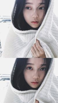 文艺小清新美女 白色头巾 个人写真