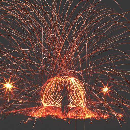 创意摄影 火光火花喷射