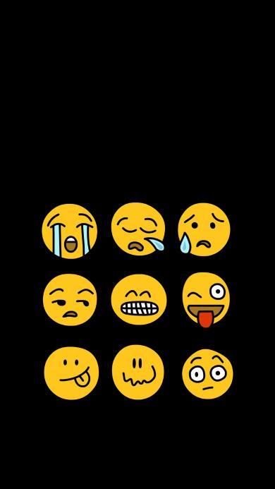 emoji 表情 黄色喜怒哀乐