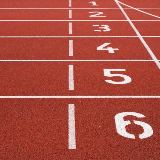 跑道 运动场 红色 数字