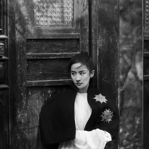 刘亦菲 演员 神仙姐姐 黑白 写真