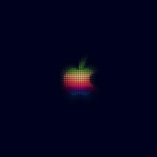 苹果 logo 色彩 简约