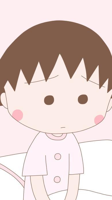 樱桃小丸子 卡通 动画 日本 可爱 粉色