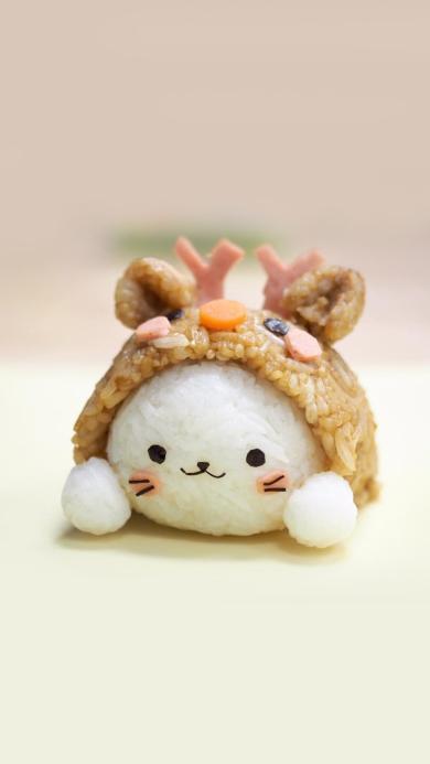 创意美食 可爱小兔子饭团