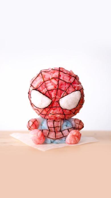 创意美食 蜘蛛侠造型饭团