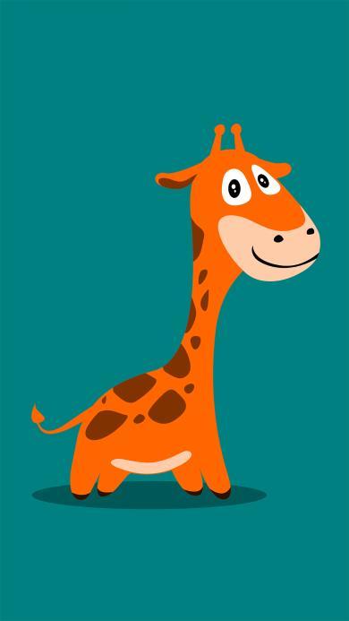 长颈鹿 图标 卡通 可爱 动物
