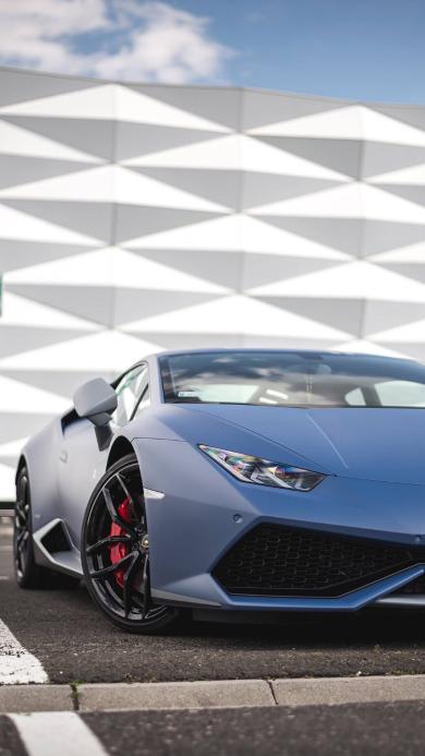 兰博基尼 超级跑车 蓝色 炫酷 速度