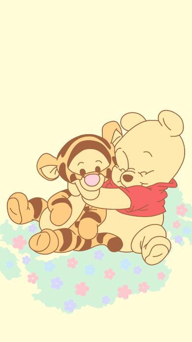 小熊维尼 跳跳虎 动画 可爱 卡通 黄色