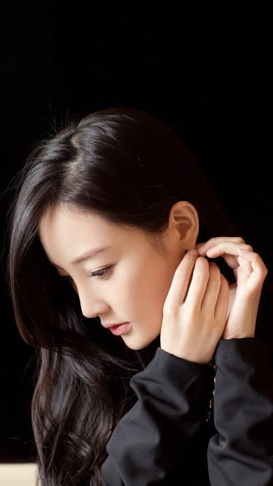 李小璐 演员 明星 艺人 黑色 时尚