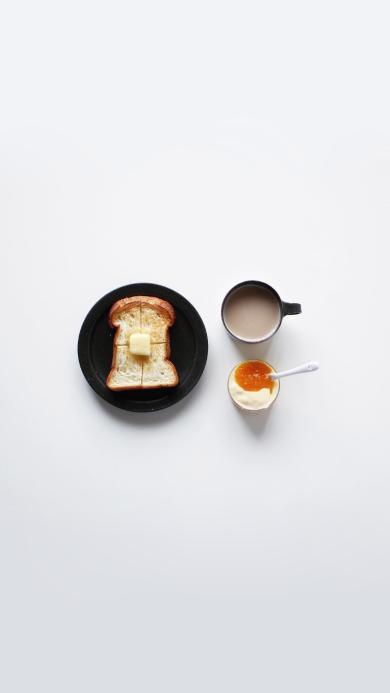 美味早餐 吐司面包 奶茶 酸奶