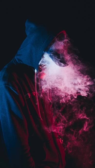 鸭舌帽 烟雾缭绕 灯光 阴影